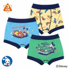 [ディズニー]3枚組ボクサーブリーフ(ミッキー)【90cm・95cm】[ブリーフ 男の子 下着 パンツ ベビー 子供 子ども こども ベビー服 子供