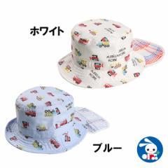 垂れ付きはたらくくるまバケット帽子【48cm・50cm】[帽子 ぼうし ハットキッズ帽子 子供帽子 子ども帽子][西松屋]