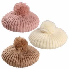 モヘアニットベレー帽【48cm・52cm】[帽子 ぼうし キャップ ヘッドウェア ヘッドウエア 子供 子ども こども キッズ 幼稚園 小学校 小学生