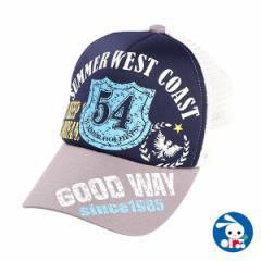 カレッジメッシュ帽子(ブルー)【56cm】[帽子 ぼうし キャップ メッシュ メッシュ帽子 ヘッドウェア ヘッドウエア 子供 子ども こども