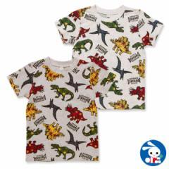 恐竜ロゴ総柄半袖Tシャツ【100cm・110cm・120cm・130cm】[男の子 アウトウェア][西松屋]