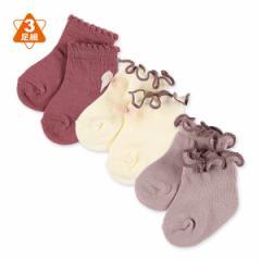 3足組新生児クルーソックス(メローリボン)【新生児7-9cm】[かわいい 子供 子ども こども キッズベビー靴下 靴下 くつ下 ベビーソックス