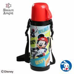 [ディズニー]SmartAngel)2WAYステンレスボトル ミッキー(450ml)[水筒 すいとう 遠足 入園 入学 保育園 幼稚園 小学校 小学生 入園準備