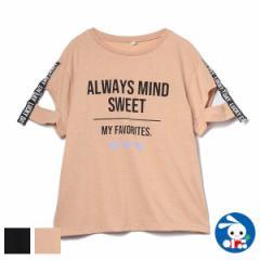 肩テープスリットフレンチ半袖Tシャツ【130cm・140cm・150cm・160cm】[女の子 tシャツ 西松屋 シャツ ティーシャツ 子供服 子ども服 キッ