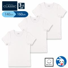 [EFC]3枚組半袖シャツ(白無地)【140cm・150cm・160cm】[インナー 肌着 tシャツ セット シャツ ベビー服 ベビー 子供服 子ども服 キッズ