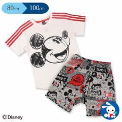 [ディズニー]アディダスミッキーマウスサマーセット【80cm・90cm・100cm】[ベビー tシャツ ボトムス セット 上下 赤ちゃん 子供 キッズ