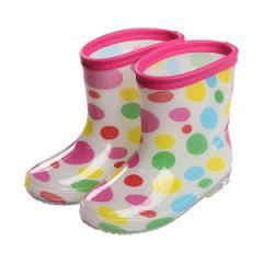 レインブーツ(水玉柄)【13cm・14cm・15cm・16cm・17cm・18cm】[靴 くつ 長靴 レインシューズ レインブーツ 雨靴 ジュニア キッズ 子供