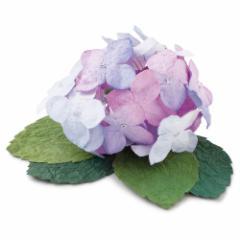和紙花 あじさい 紫 季節を彩る和紙置物 めでたや Hydrangea, Japanese paper ornament