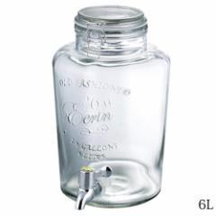 ガラス製ドリンクサーバー 6L パーティーや店舗にオススメ Beverage dispenser made of glass