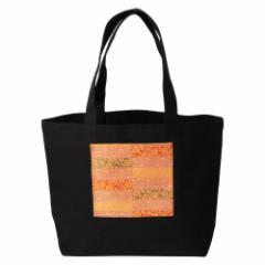 京都 あらいそ 西陣織名物裂 エコトートバッグ014 市松名物裂取り 内側防水ビニール仕様の丈夫なエコバッグ 正絹織物 Kyoto nishij