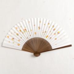 【扇子】女房扇 彩り菊蔓 (SB-008) 和紙の扇子6寸5分 和詩倶楽部 Sensu fan, Washi-club ※在庫限り
