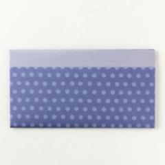 辻徳 折形懐紙入れ HUTAE 水玉(紫) 白無地懐紙20枚入り