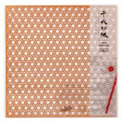千代切紙 籠目 (BFCK-014) レーザー加工による切り絵のような透し彫り千代紙・折り紙 東京都の工芸品 Chiyo-kirigami