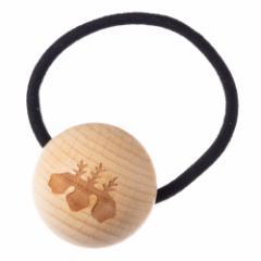 唐紙アクセサリー ヘアアクセサリー・ヘアゴム 光悦桐 木製アクセサリー 京都府の工芸品 Karakami wooden accessory, Hair elastic
