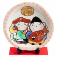 ひさみ窯 大黒・恵比寿絵皿 (K6558) 美濃焼の飾り絵皿 縁起物 岐阜県の工芸品 Decorative plate, Setoyaki, Aichi craft