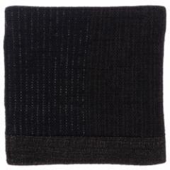 百道発信 よろけ縞 ミニコースター 黒 (IKI-1021) リバーシブル 8×8cm 福岡県の布製品 Fabric coaster, Fukuoka craft