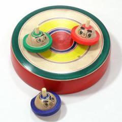 はっけよーい! 相撲独楽 台付き(小) 山形県の木地玩具