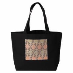 京都 あらいそ 西陣織名物裂 エコトートバッグ018 竹垣牡丹鳳凰紋 内側防水ビニール仕様の丈夫なエコバッグ 正絹織物 Kyoto nishij