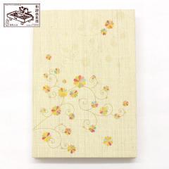 【御朱印帳】彩り菊蔓 (GO-010) 和詩倶楽部 Goshuin book / Washi club