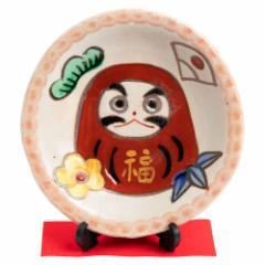 ひさみ窯 達磨絵皿 (K6560) 美濃焼の飾り絵皿 縁起物 岐阜県の工芸品 Decorative plate, Setoyaki, Aichi craft