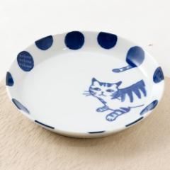 nekoneko中皿 (K7148) 美濃焼のねこ食器シリーズ 岐阜県の工芸品 Minoyaki Medium dish, Gifu craft