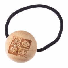 唐紙アクセサリー ヘアアクセサリー・ヘアゴム 遠州緞子 木製アクセサリー 京都府の工芸品 Karakami wooden accessory, Hair elasti