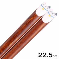 みみぷく箸 ミケ猫 グレー 22.5cm ぷくっと耳がかわいい木製箸 グラポート Wooden chopsticks