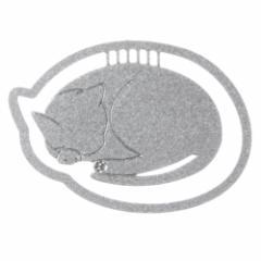 プチクリ 丸まり猫 シルバー(PC007) 10個入り