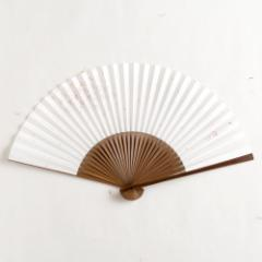 【扇子】女房扇 桜吹雪 (SB-015) 和紙の扇子6寸5分 和詩倶楽部 Sensu fan, Washi-club ※在庫限り