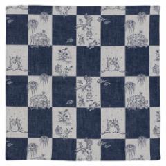 鳥獣戯画 ダブルガーゼふろしき チーフ48cm Choju-giga Furoshiki, Wrapping cloth