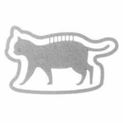 プチクリ 散歩猫 シルバー(PC008) 10個入り