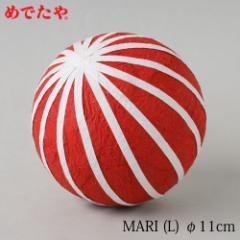 正月飾り めでたや MARI 赤(L) 鞠の置き飾り New Year decoration, Japanese ball ornament