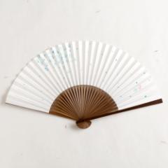 【扇子】女房扇 蒼桜吹雪 (SB-016) 和紙の扇子6寸5分 和詩倶楽部 Sensu fan, Washi-club ※在庫限り