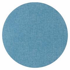 百道発信 四季彩サークルマットL 紺 (IKI-1428) 直径36cm リバーシブルランチョンマット 福岡県の布製品 Fabric place mat, Fukuok