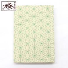 【御朱印帳】麻の葉黄緑色 (GO-015) 和詩倶楽部 Goshuin book / Washi club