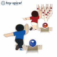 ポストカードTOY ボウリングゲーム (009-1) 素材付きタイプ 紙のおもちゃ工作キット Postcard toy, Paper handmade kit