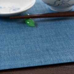 百道発信 四季彩スクエア ランチョンマット 紺 (IKI-1248)リバーシブル