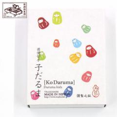 和詩倶楽部 遊便切手 子だるま (YK-008) 切手型の吉兆柄シール・貼札 20枚入(2絵柄各10枚) Japanese Kitcho pattern sticker