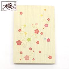 【御朱印帳】彩り梅蔓 (GO-018) 和詩倶楽部 Goshuin book / Washi club