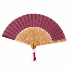 扇子 クジャク プラム 整 -トトノウ- 扇骨まで視線を感じる美しい扇子 Sensu fan Wing