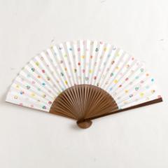 【扇子】女房扇 吉あられ (SB-020) 和紙の扇子6寸5分 和詩倶楽部 Sensu fan, Washi-club ※在庫限り