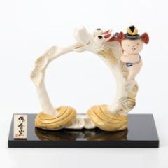 ひさみ窯 昇竜と童 (MK152) 瀬戸焼の皐月飾り 端午の節句・五月人形 Boys festival decoration, Setoyaki, Aichi craft