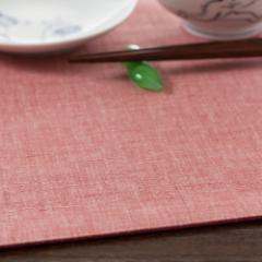 百道発信 四季彩スクエア ランチョンマット 桃 (IKI-1248)リバーシブル