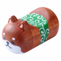 みみぷく箸置 柴犬 茶 ぷくっと耳がかわいい木製箸置き グラポート Wooden chopstick rest