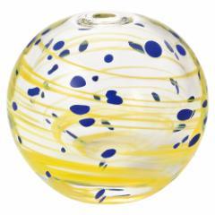 彩手鞠 星月夜 (F-71270) 花瓶・一輪挿し 津軽びいどろの花器 青森県の工芸品 Bud vase, Aomori craft