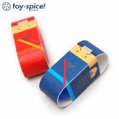 ポストカードTOY でんぐりにんじゃ (016-2) 素材付きタイプ 紙のおもちゃ工作キット Postcard toy, Paper handmade kit