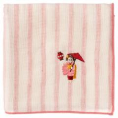京都ハンカチ 舞妓 傘 ストライプ スーベニール Kyoto handkerchief