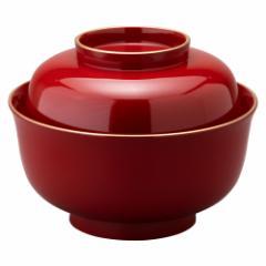 蓋付きお椀 雑煮椀 金箔 松竹梅 朱 (4T-517) Bowl with a lid, Gold leaf Shouchikubai, Japanese lacquerware