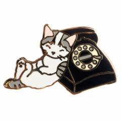ポタリングキャット ピンズコレクション 電話(PZ-01)