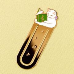 ブックマーカー(しおり) 読書5 音符 (BM-05) ポタリングキャット Cat bookmark, Pottering cat